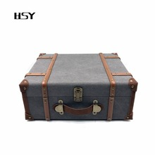 High end ruby stylus antique portable suitcase turntable built in speaker