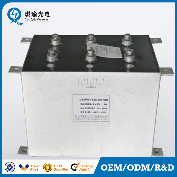 High speed rail capacitor