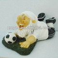 Handmade resin football gnome sports souvenir for sale