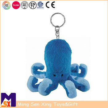 Promo gifts factory custom soft stuffed animal plush toy keychain