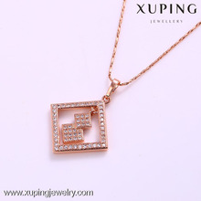 31637 Xuping wholesale original design rhombus shape with strass pendant for girls