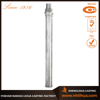 B006 Aluminum Sand Castng Street Lighting Pole For Sale
