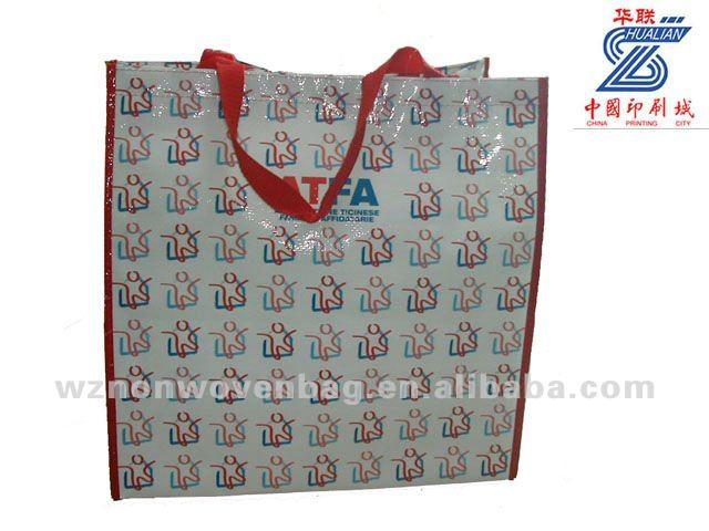 shiny laminated promotion pp woven bags