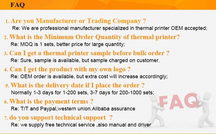 58 мм Принтер Штрих-Кода и Интерфейс Bluetooth Тип мобильный чековый принтер BT-II