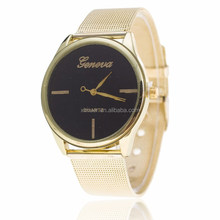 Golden Fashion Geneva Steel band ladies watch