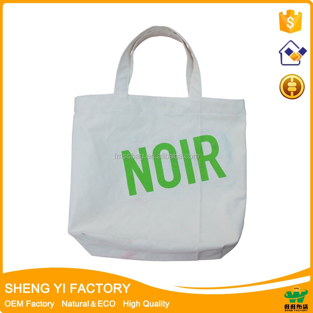 heavy duty custom printed reusable blank organic cotton canvas tote bag/blank canvas wholesale