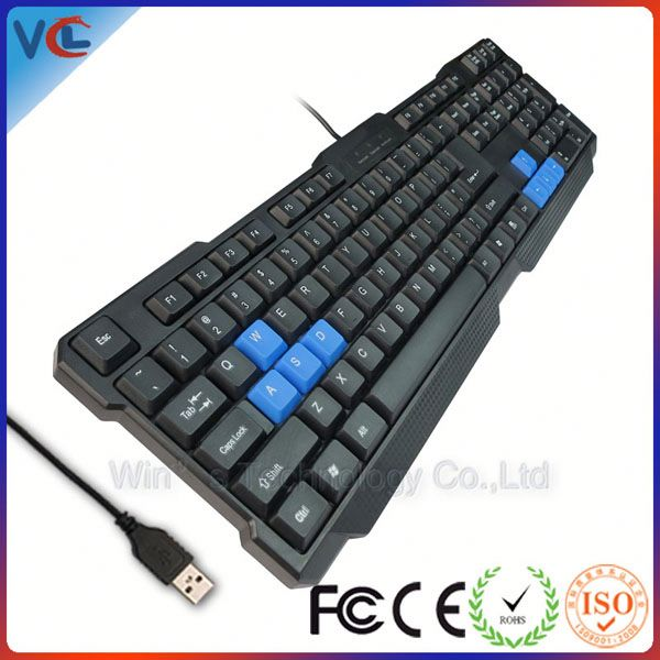 fashion design usb wired 2013 new keyboard with 104keys