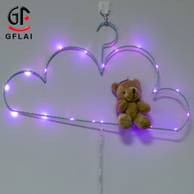 Wholesale Wedding Favors Gifts Led Lighting Cloud/Bear/Star/Moon/Umbrella Metal Wall Decoration