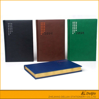 Solid color notebook cheap plian gift leather delijia office stationery