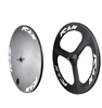 ican hotsale 3S-T 56 mm depth carbon tubular three spoke bicycle wheels