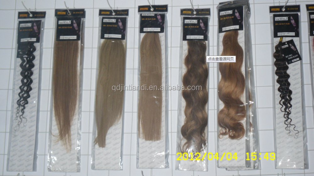 Top grade plastic PVC bag for hair extensions/ hair extensions packaging bag
