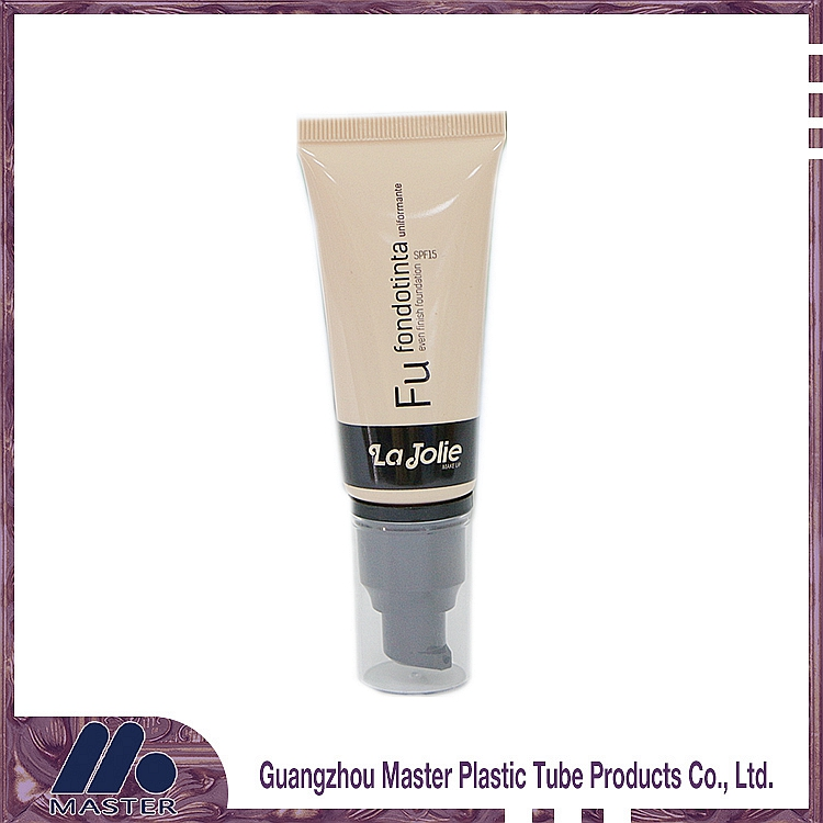 Special produce cosmetic cream packaging and cosmetic airless pump plastic tube with screw cap
