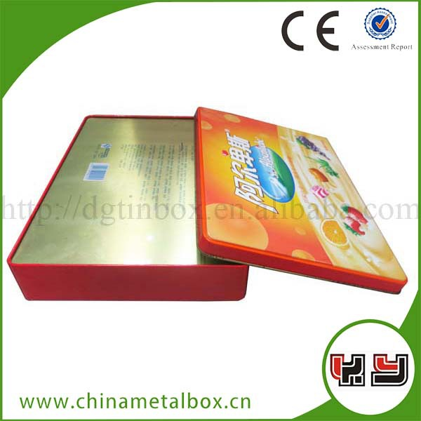 Rectangle Tin Box/Easy Open Can Lid/Mini Aluminium Tin Box