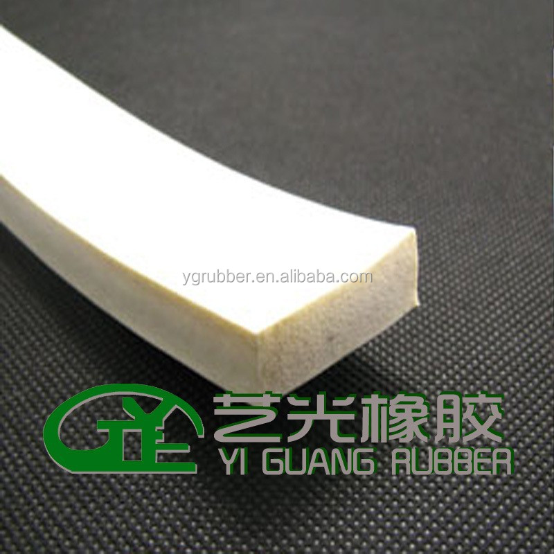 square-shaped silicone foam rubber sealing