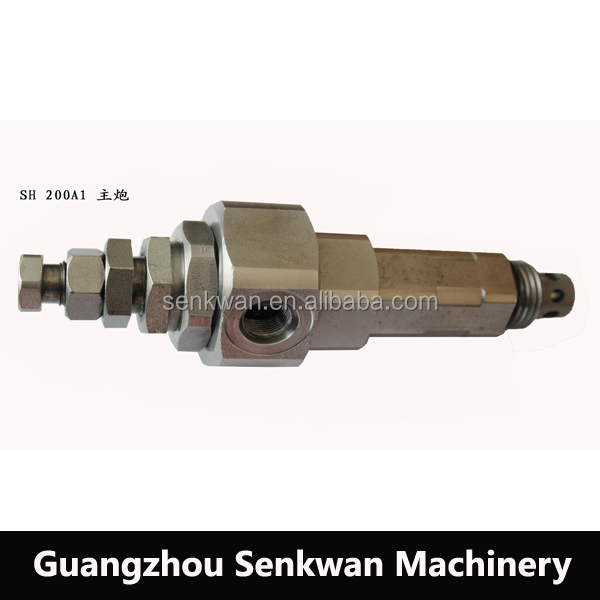 SH200 A1 hydraulic pressure safety main relief valve for Excavator