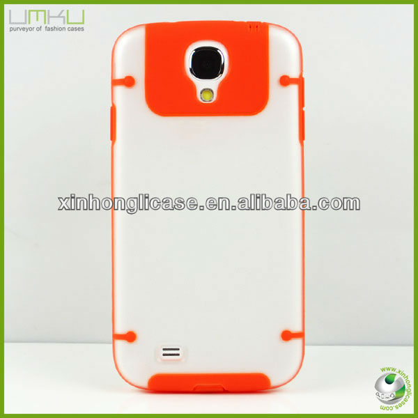 For for galaxy s4 pc case transparent luminous phone case