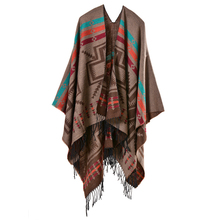 Acrylic and polyester mixed colorful pattern jacquard woven crochet fringe wholesale yiwu scarf