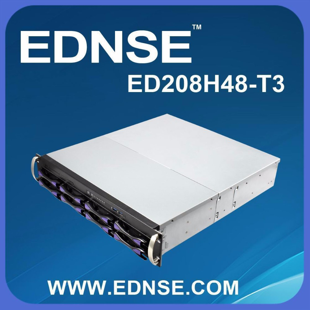ED208H48 EDNSE 2U hot-swappable server case/rack mount server chassis with 8 HDD bays