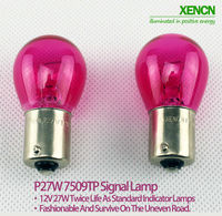 XENCN P27W(S25) BA15s 12V 27W Amber/Pink/Green/Blue/Purple /Red Car External Lights Turn Signals Additional Brake Lights