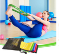 Set of Five Loop Bands for fitness, exercising, and mobility training
