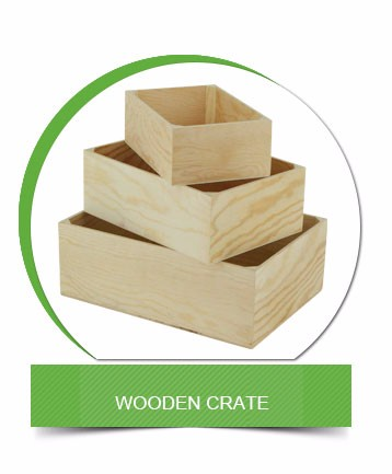 Serviceable customized shape small wooden crate