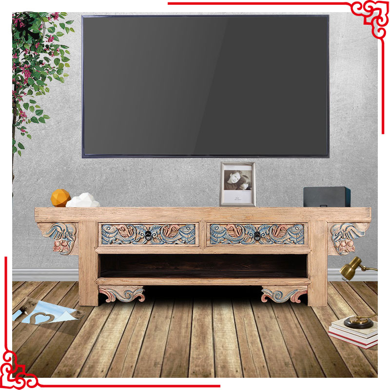 reproduction chinese recycle solid wooden furniture tv stand cabinets