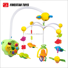 New Design Remote Control Bell Parts Baby Musical Mobile Toys With Light And Music