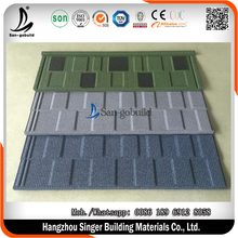 Flat Shingle tile roofing sheets Type and Color Steel Plate Material Stone Coated Tiles