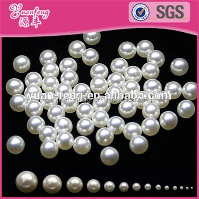 Hot sale original loose round no hole fake pearl beads
