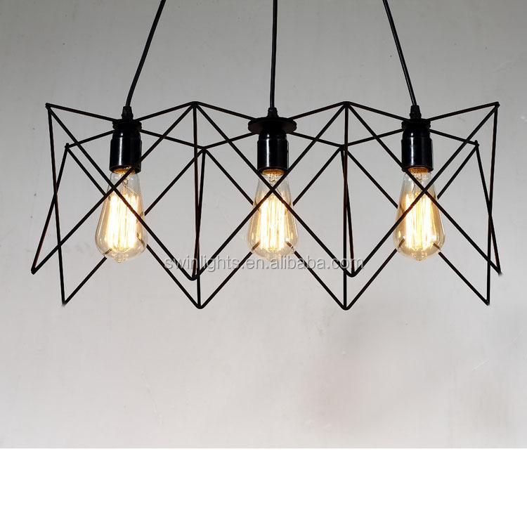 Wholesale 3 lights vintage industrial iron pendant light,loft ...