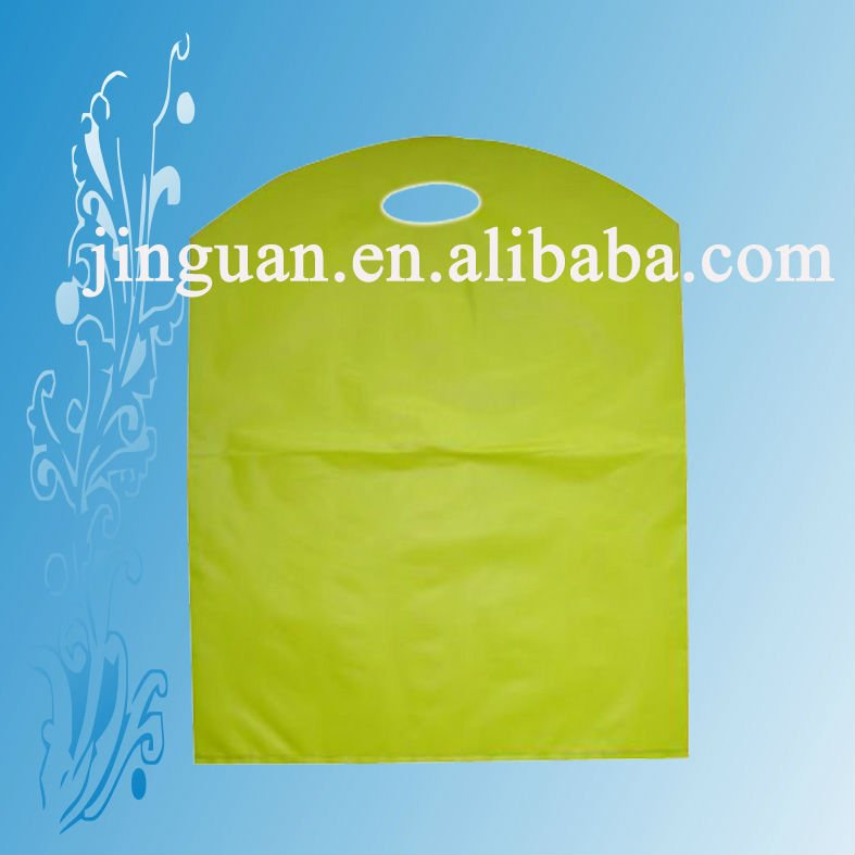 cheaper price for LDPE/HDPE /MDPE wave top die cut punch out handle plastic carry bag