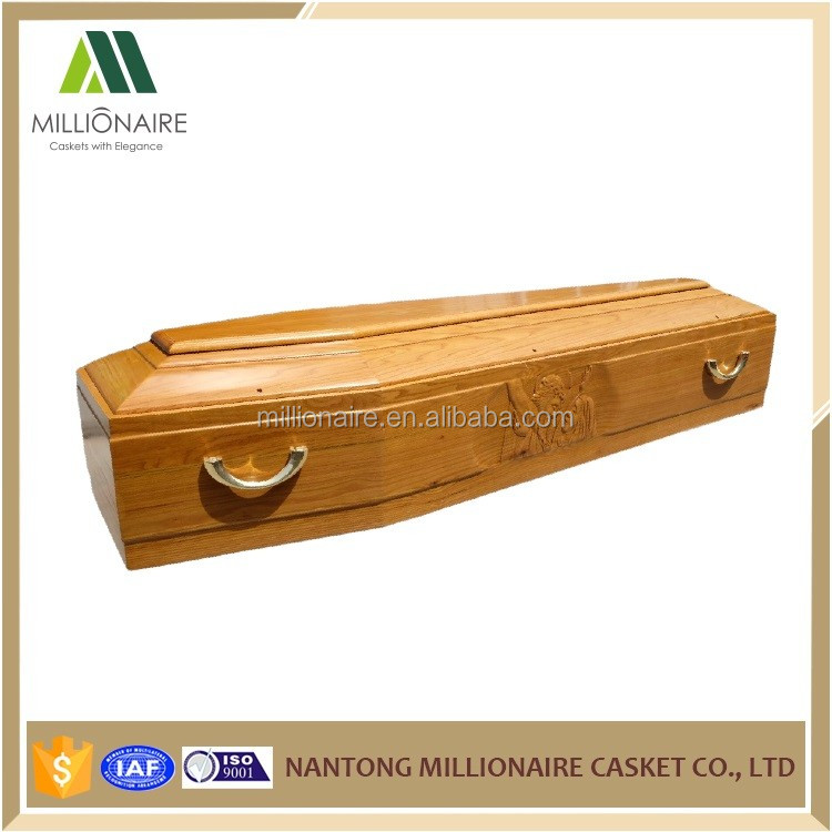 Europe wooden carving wooden handle funeral coffin prices
