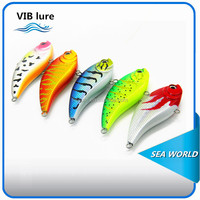 wholesale highquality VIB lure/ 60/70 3D eyes VMC hook VIB bait / plastic VIB sinking hard fishing lure