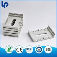 Q235 ISO 9001:2008 double plastic cable clips , wire mount