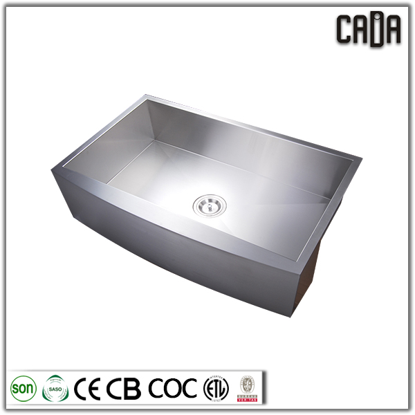 cadia hotselling 304 stainless stainless steel full handcraft kitchen insert apron sink