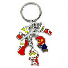 Ultraman Adrian Five Red Colorful Earth Heroes Figures Keychains