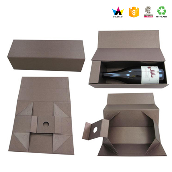 High Luxury Folded Cardboard Paper Wholesale Wine Gift Box