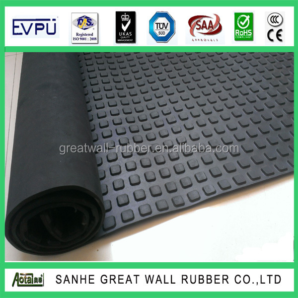 Best selling New design 15mm thickness x 2m width x 20m Length Quality Small squared Cow Mat Rubber for cow