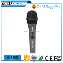 Q818S Professional Wired metal karaoke dynamic Microphone
