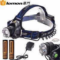 Rechargeable High Power Headlamp Led Head Flashlight with Zoom and Bike Body Light