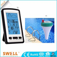 Analog lcd rf 433mhz wireless weather station clock factory