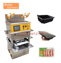 vacuum fresh fruit tray sealer/plastic meat container box packing machine/vegetable clamshell sealing machine with nitrogen
