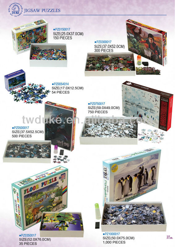 500 Piece High Quality Colorful Fashion Custom Jigsaw Paper Puzzles