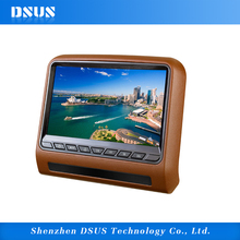 high quality 9 inch headrest still cool car dvd player with wireless game FM IR USB