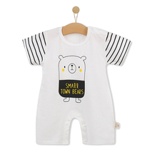 Wholesale Stylish Baby Clothes Striped Baby Organic Romper