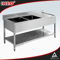 Commercial Restaurant Kitchen Stainless Steel Table Sink Under Shelf