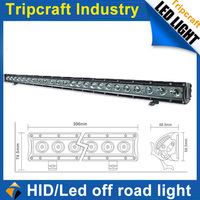 39inch 120W LED Work Light bar, one row Led Light Bar,Offroad spot flood light lamp