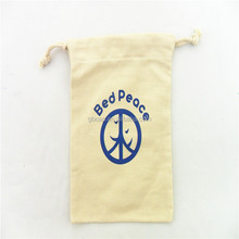 Wholesale Custom Nature Customized Size Eco-Friendly Cotton Canvas Drawstring Pouch