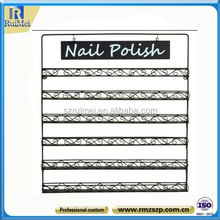 iron wall mount black nail polish display stand