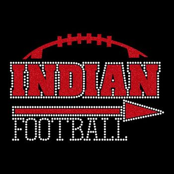 Wholesale Indian Football Heat Glitter Transfers for cloths